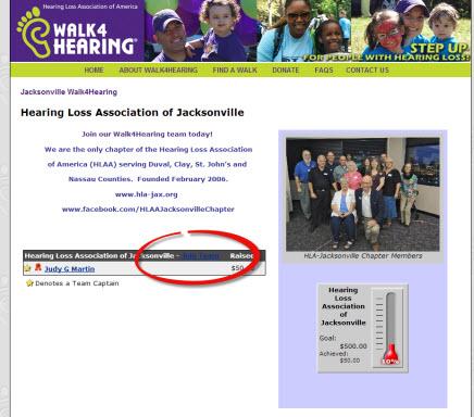 Screenshot of the HLA-JAX Team Page
